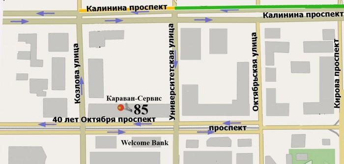 Схема проезда к ПРОКАТ