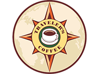 Traveler`s coffee, логотип